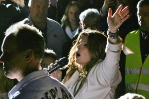 Carola i publiken